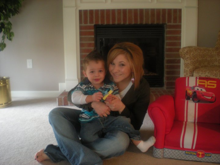 My sister Natalie, and her my nephew Shane.