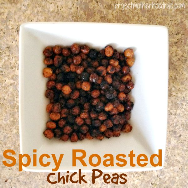 Spicy Roasted Chick Peas - Project Motherhood