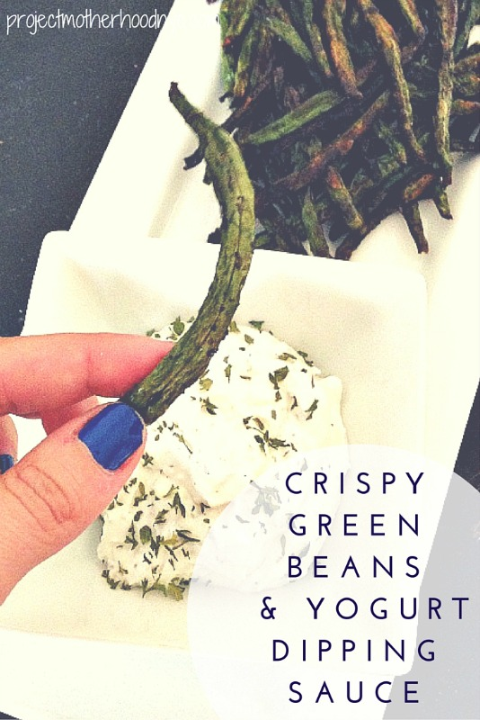 Baked Crispy Green Beans Recipe With Yogurt Dipping Sauce