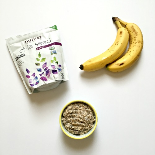 Chia Seed and Banana Overnight Oats