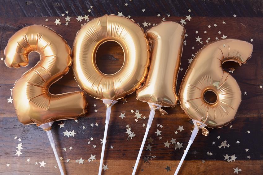 Happy 2016 New Year Balloons