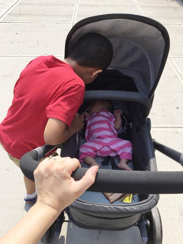 pushing-stroller
