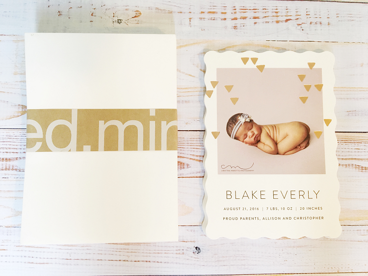 The Most Beautiful Birth Announcements {Giveaway}