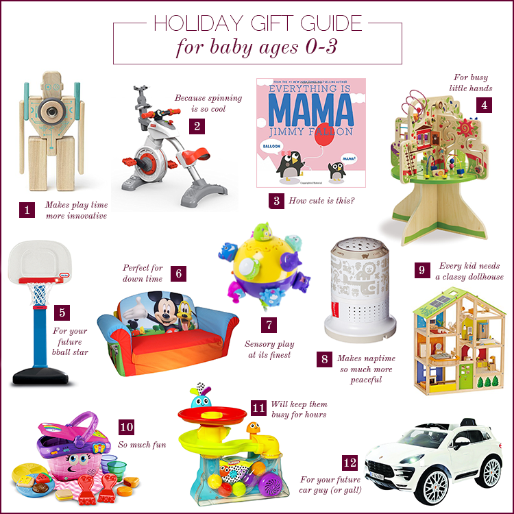 Holiday Gift Guide For Baby 2017 {Ages 0-3 Years}