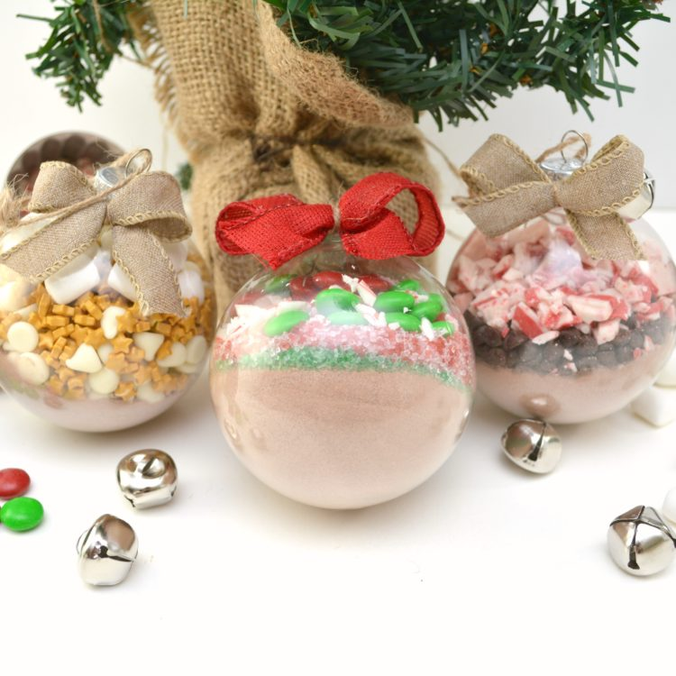 Hot Chocolate Ornaments – 3 Different Ways